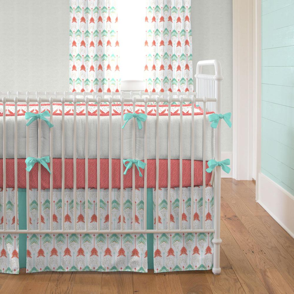 Image of: Great Coral Baby Bedding