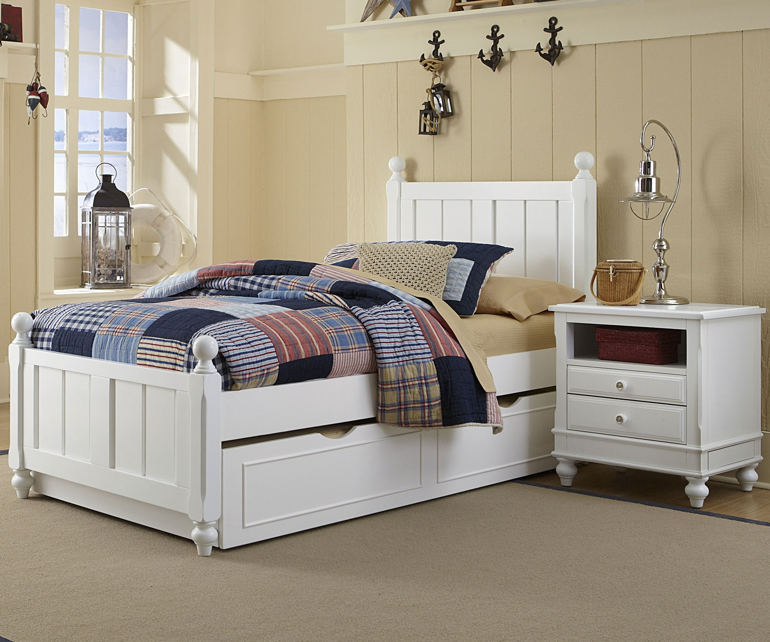 Image of: Great Twin Bed with Trundle
