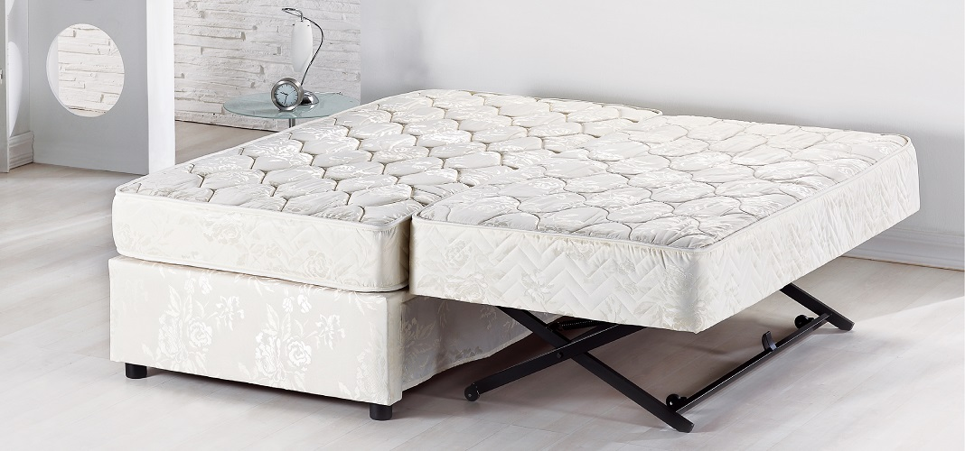 Image of: High Rise Mattress Pop Up Trundle Bed