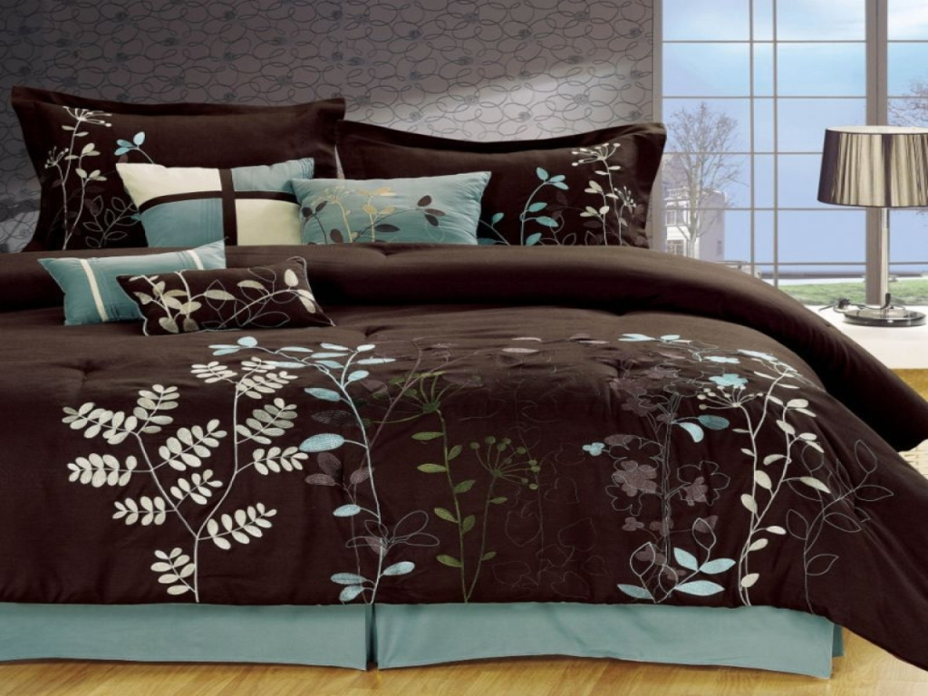Image of: Ideas Blue And Green Bedding Sets