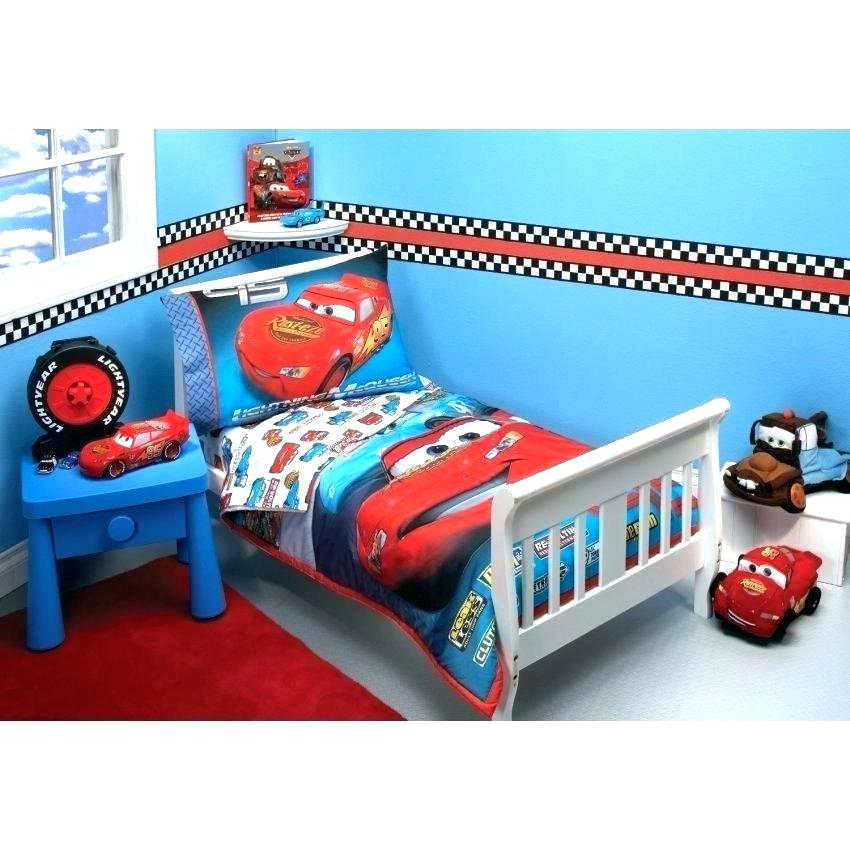 Image of: Kids Cars Toddler Bed Set