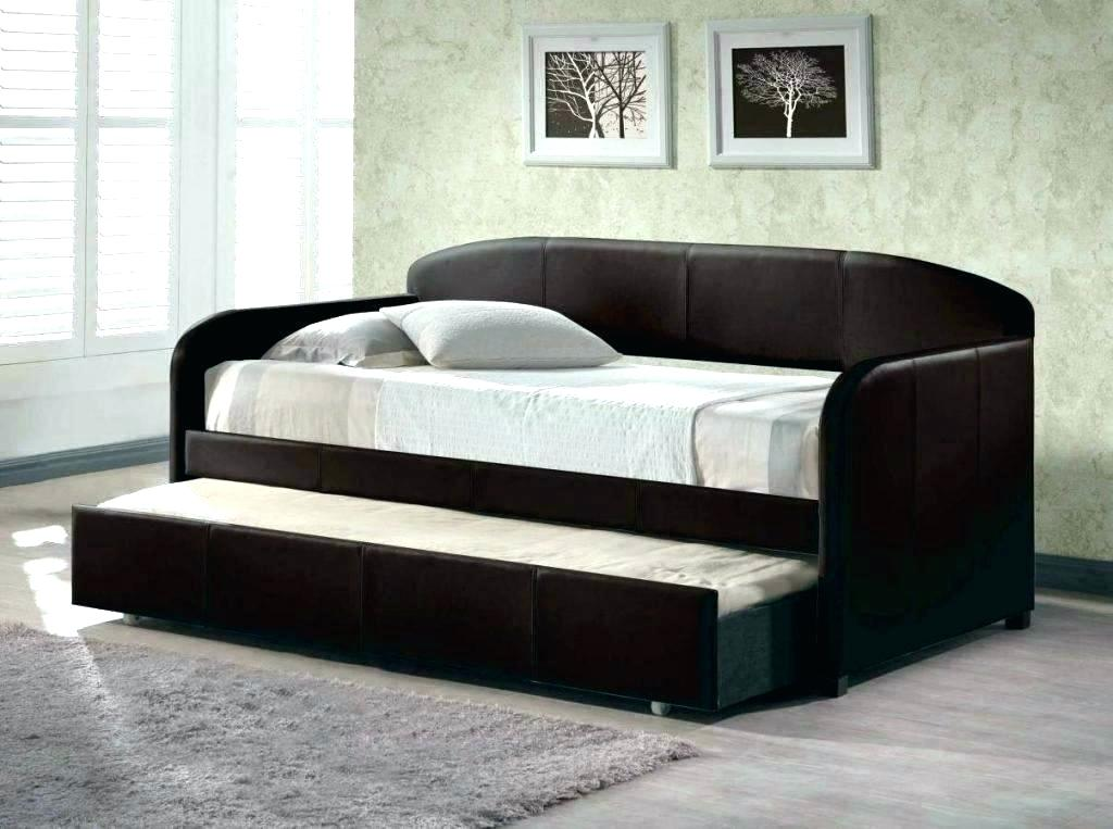 Image of: Leather Pop Up Trundle Bed