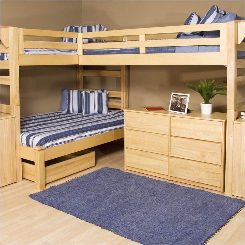 Image of: Lindy Three Bed Bunk Beds