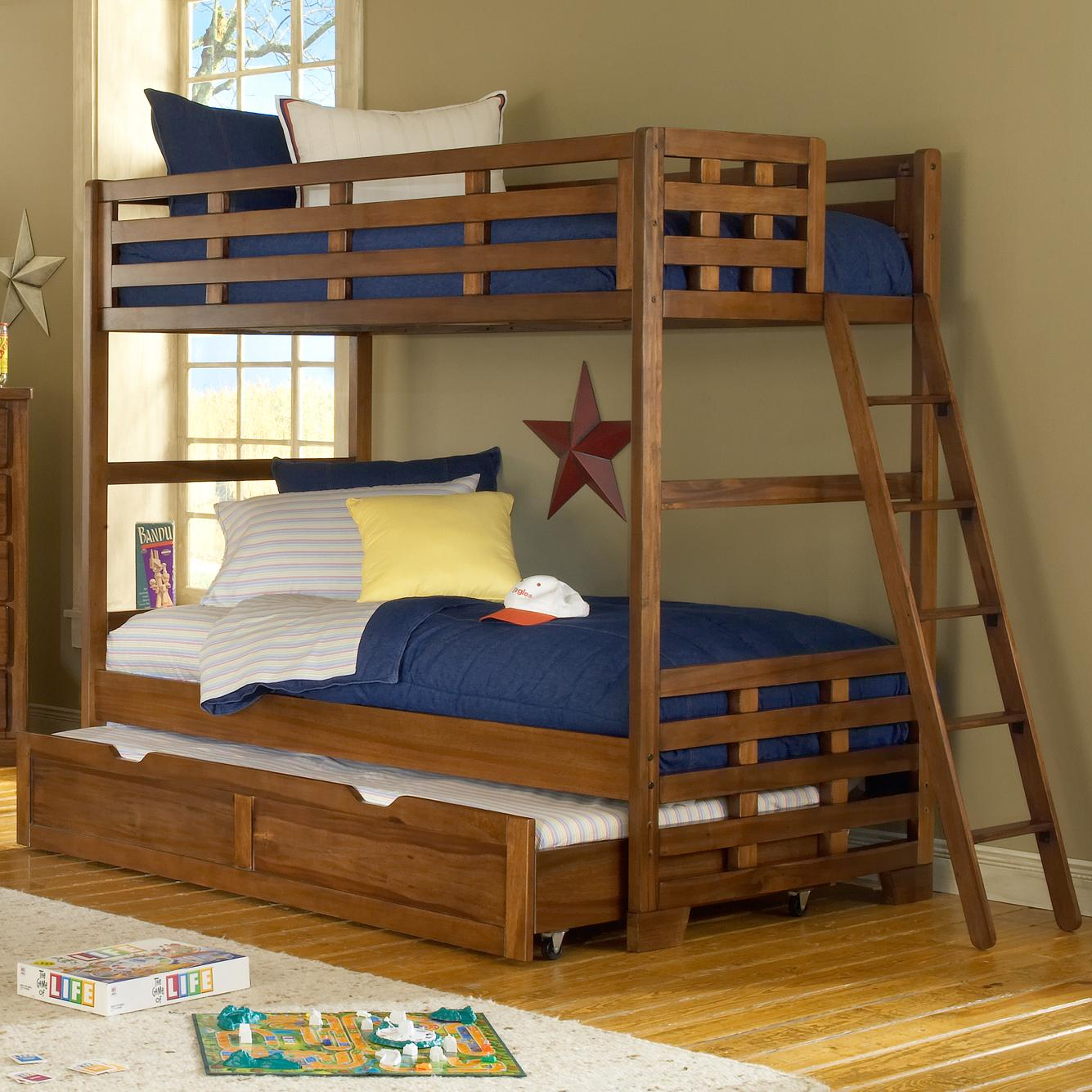 Image of: Loft Bed with Trundle and Ladder