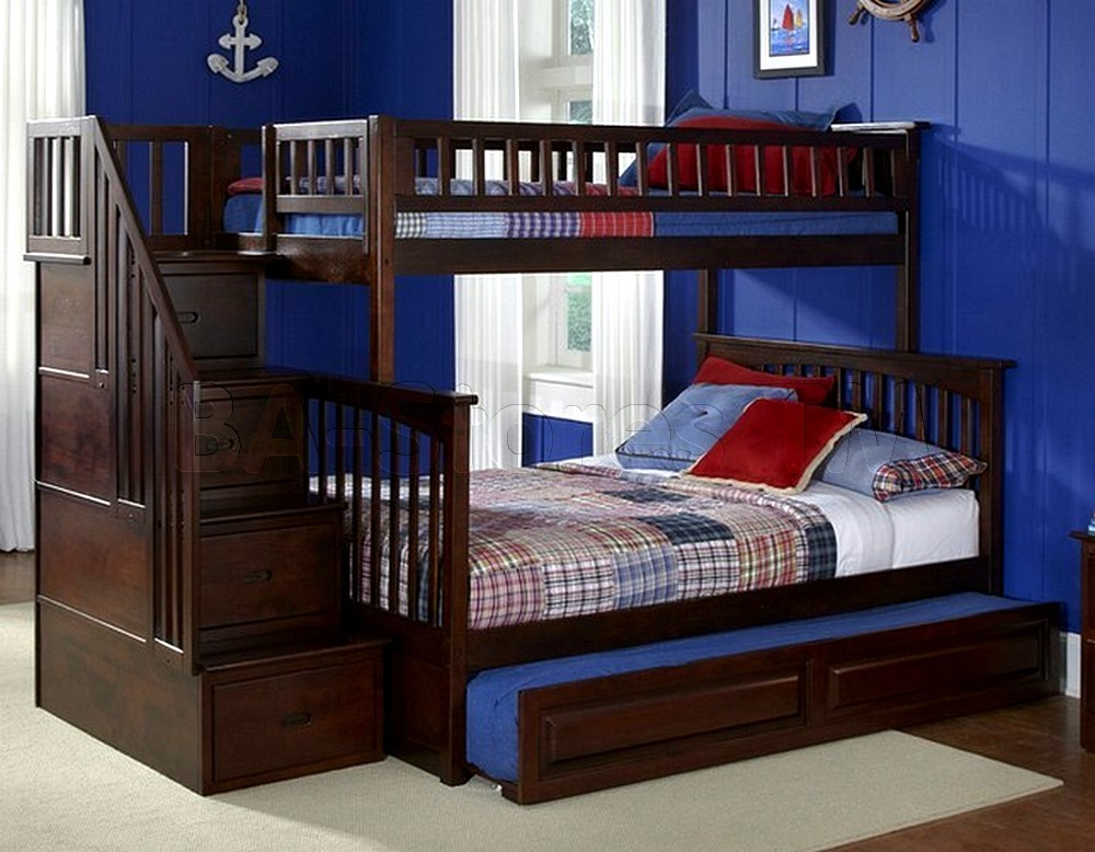 Image of: Loft Bed with Trundle and Stairs