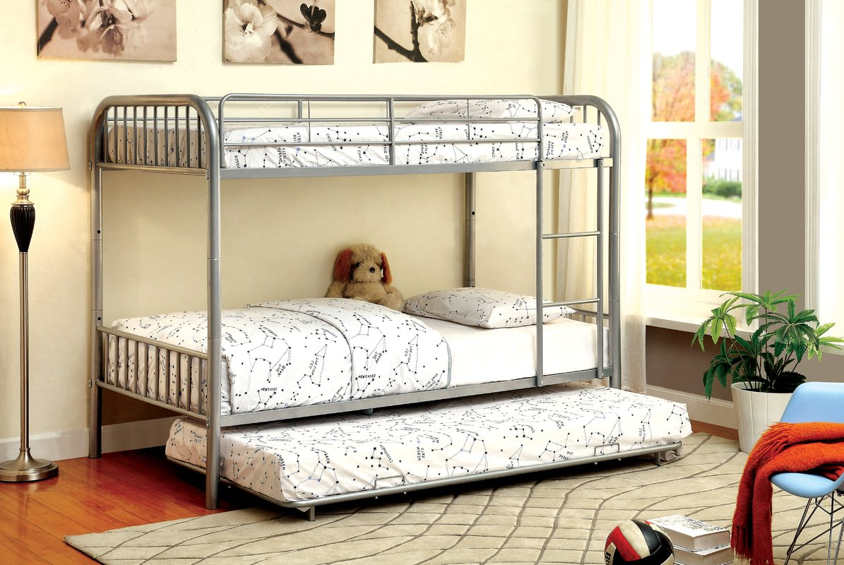 Image of: Metal Bunk Bed With Trundle