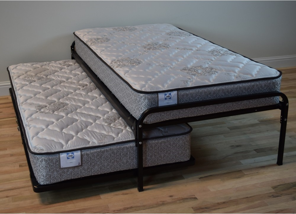 Image of: Metal Daybed With Pop Up Trundle Bed