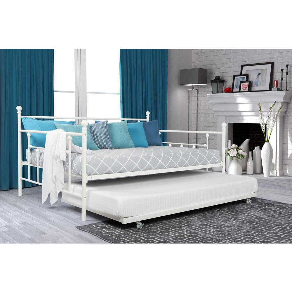 Image of: Metal Full Trundle Bed