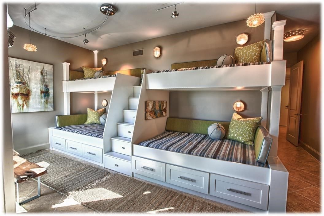 Image of: Modern Wall Bunk Beds