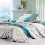 Neat Blue And Grey Bedding Sets
