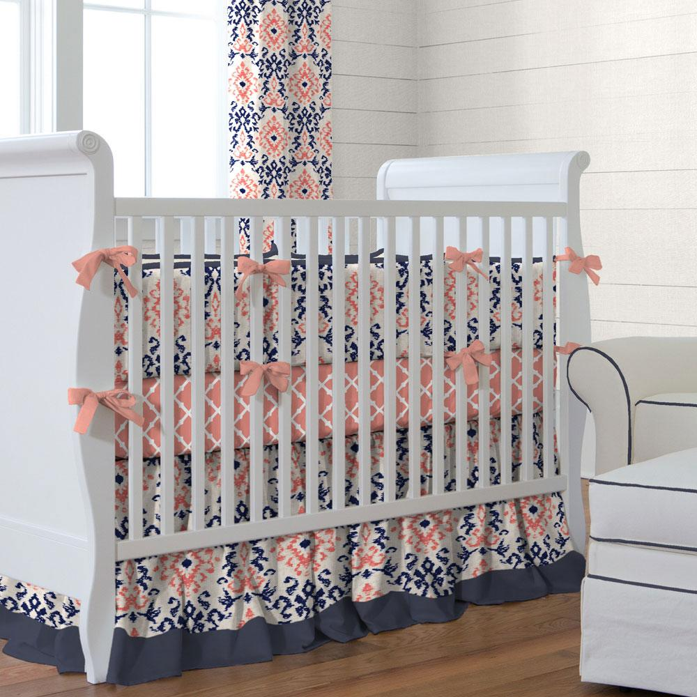 Image of: New Coral Baby Bedding