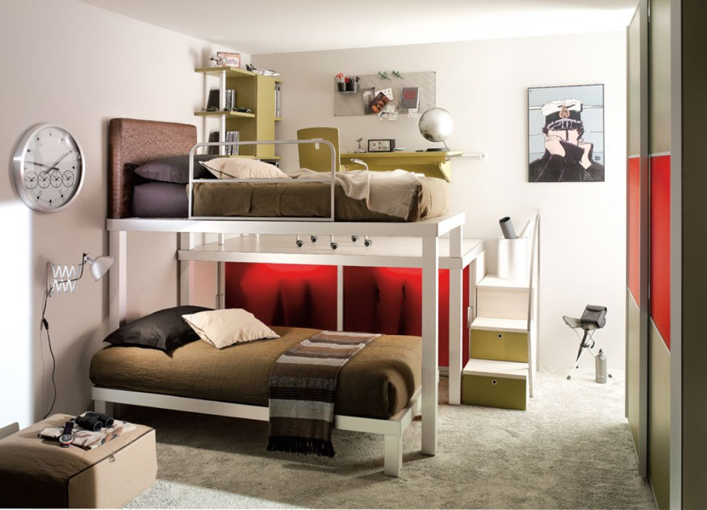 Image of: New Teen Loft Bed Ideas