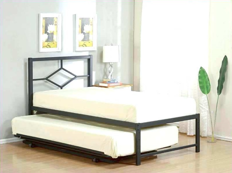 Image of: Oversized Trundle Bed Frame