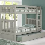 Painted Grey Bunk Beds with Trundle