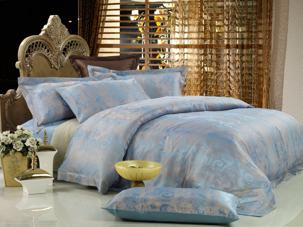 Image of: Percale Blue And Grey Bedding Sets