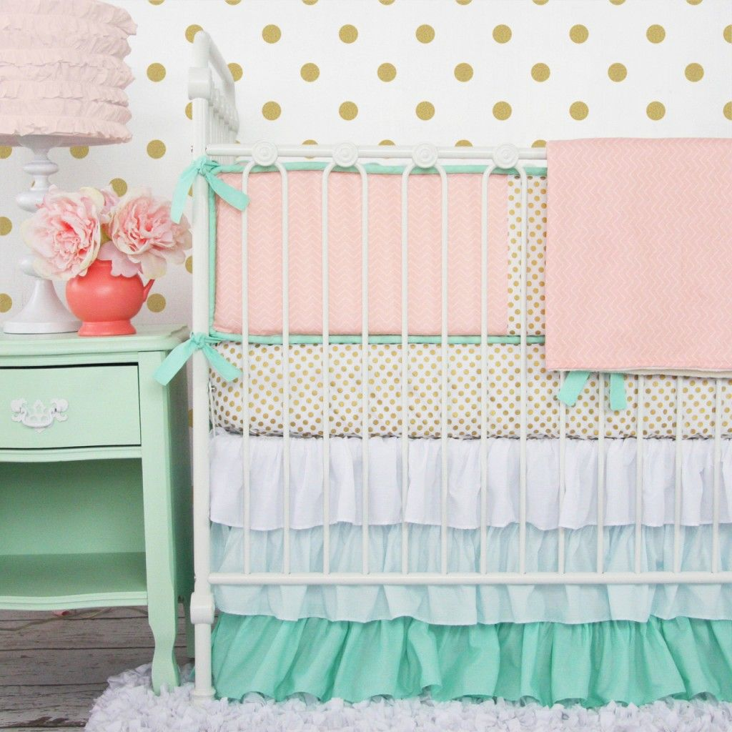 Image of: Perfect Coral Baby Bedding