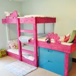 Pink Three Bed Bunk Beds