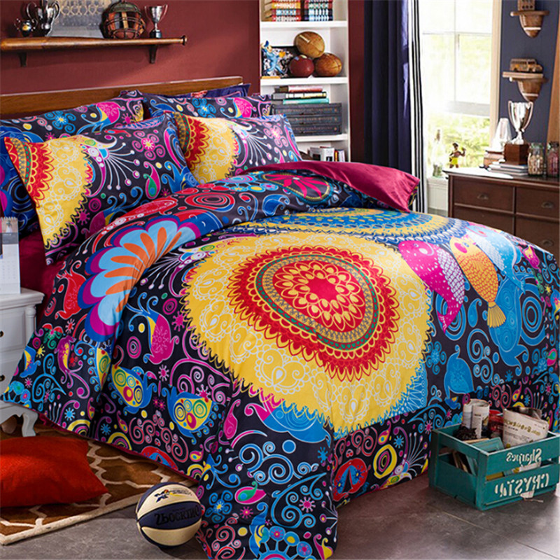 Image of: Pretty Bohemian Style Bedding