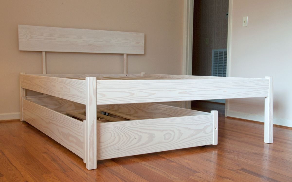 Image of: Queen Bed with Trundle Frame