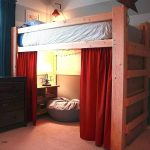 Red Curtain Set For Loft Bed