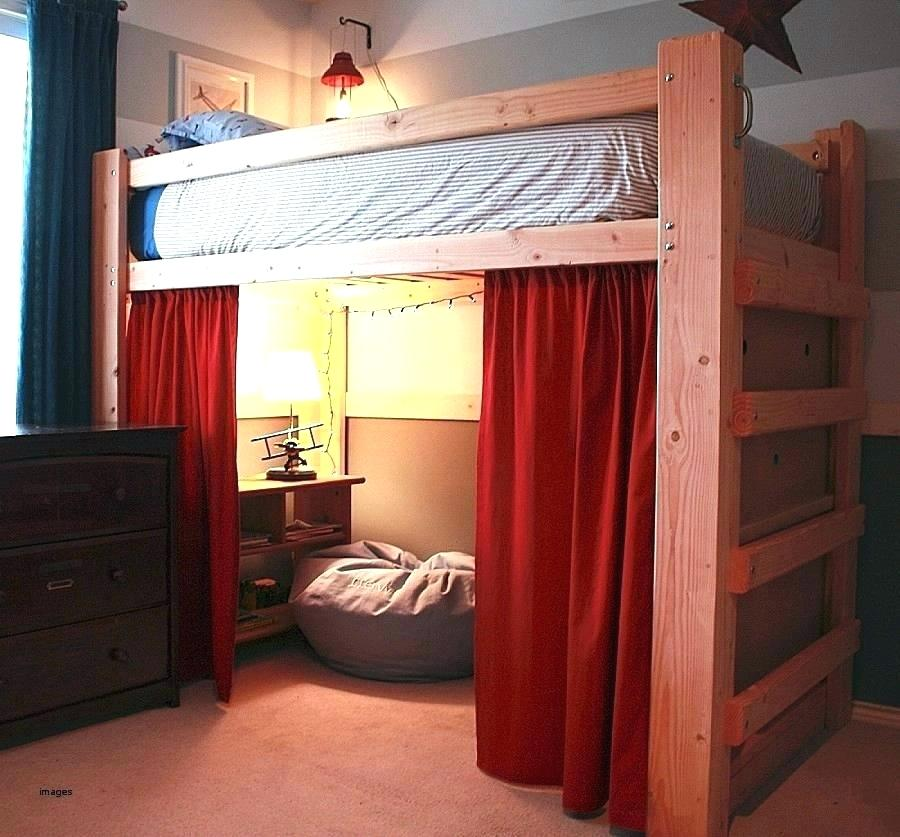Image of: Red Curtain Set For Loft Bed