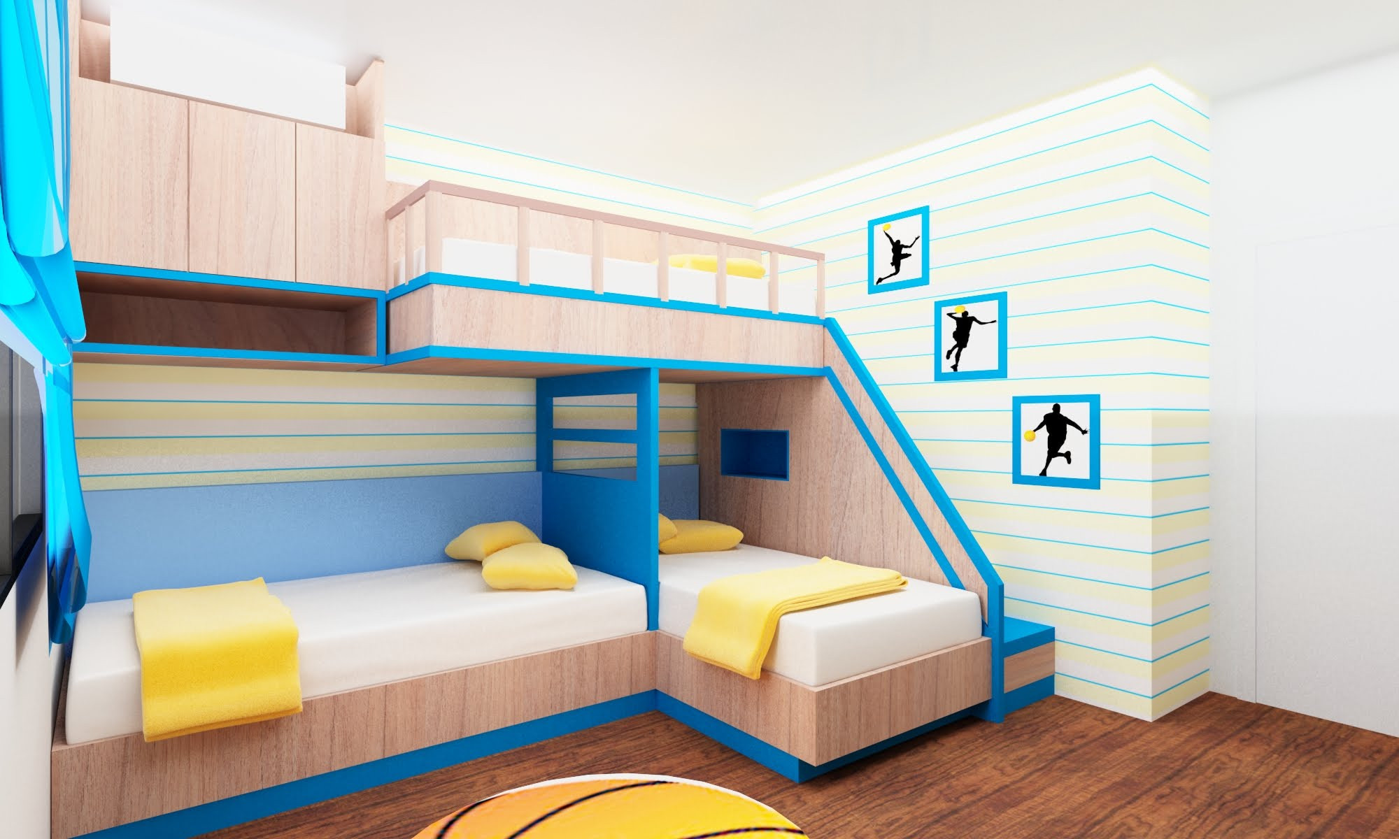 Image of: Rooms to Go Kids Bunk Beds for Girls
