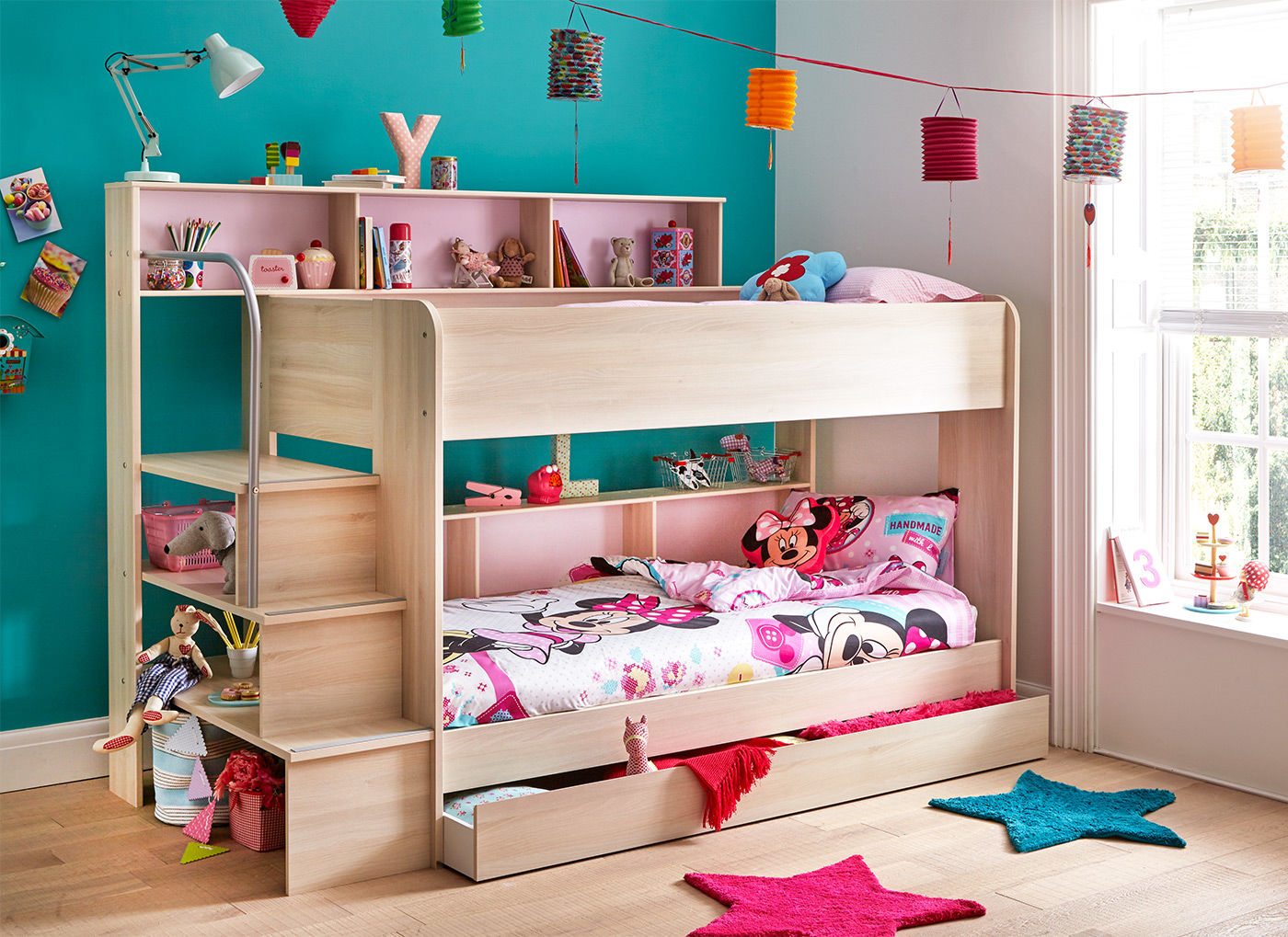Image of: Rooms to Go Kids Bunk Beds with Desk