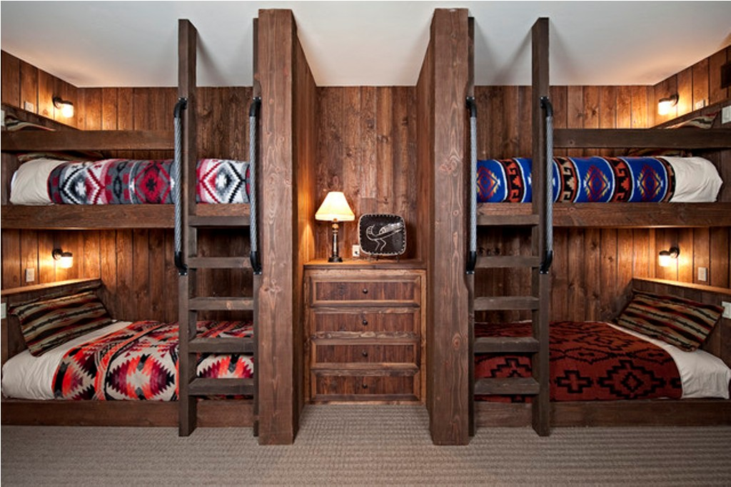 Image of: Rustic Bunk Beds for Kids
