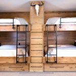 Rustic Bunk Beds with Antlers Decoration