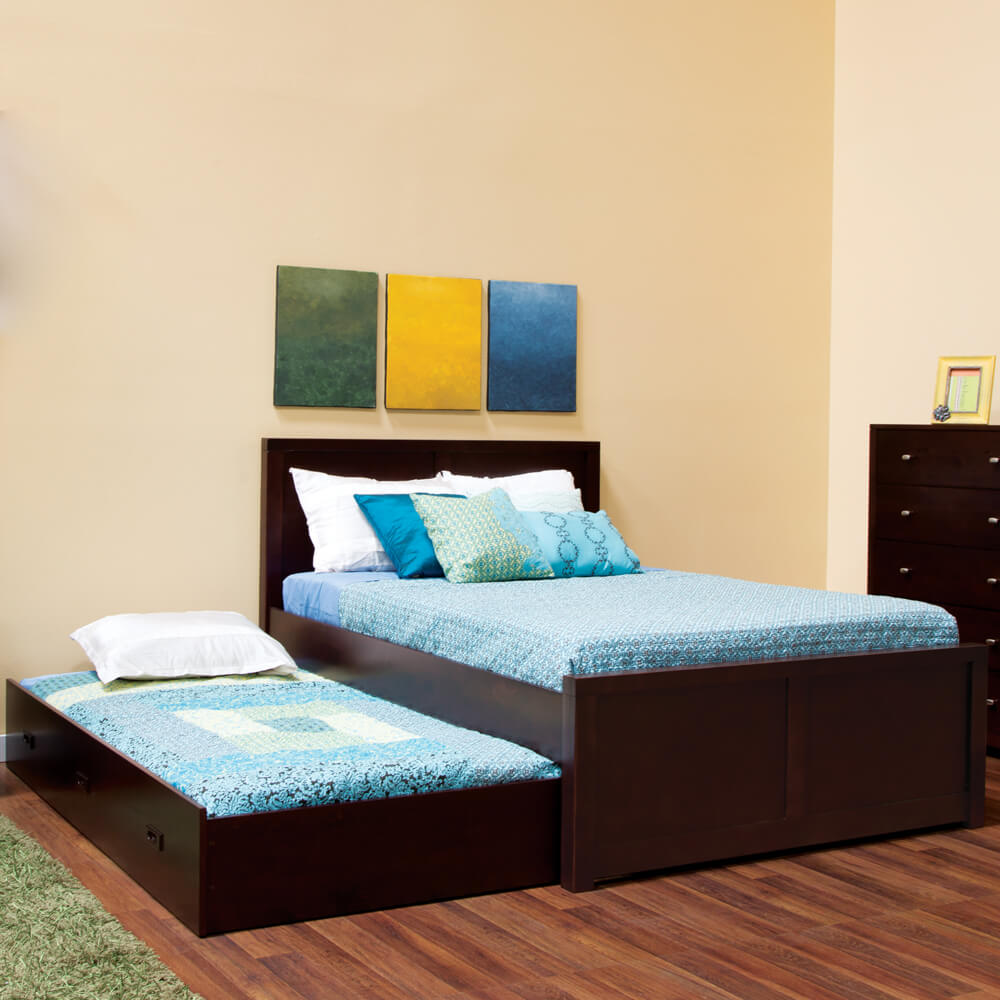 Image of: Simple Queen Bed with Trundle