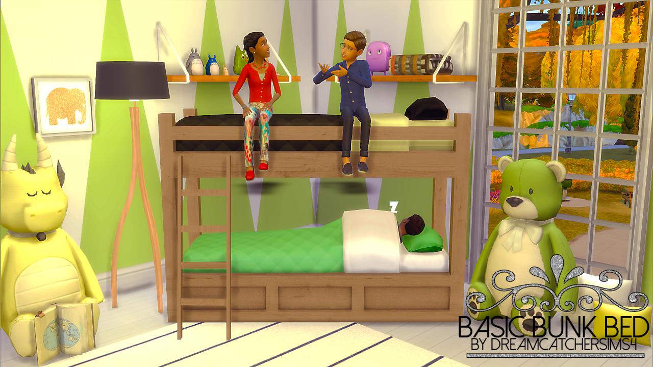Image of: Sims 4 Bunk Beds Childs