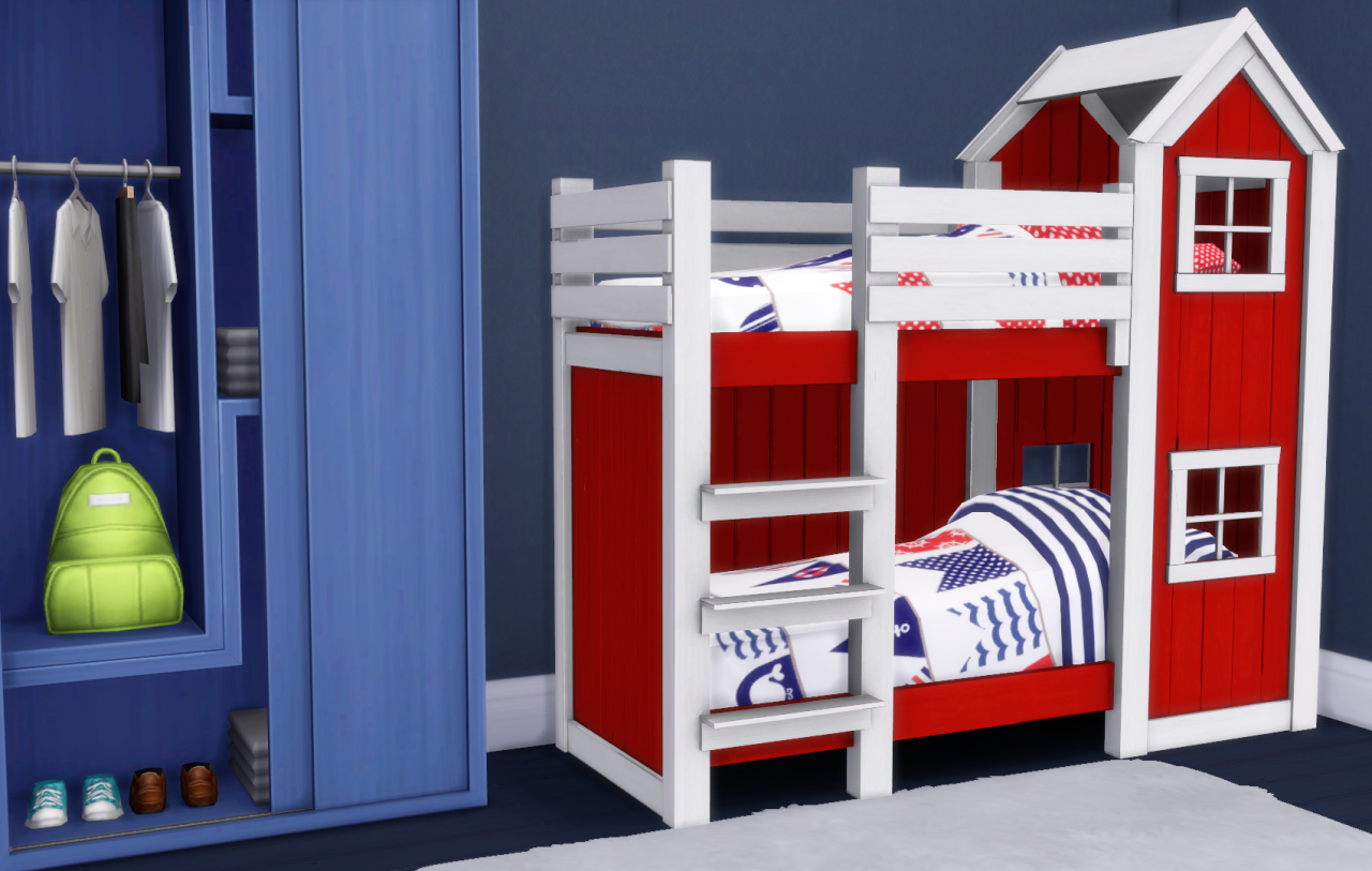 Image of: Sims 4 Bunk Beds Color