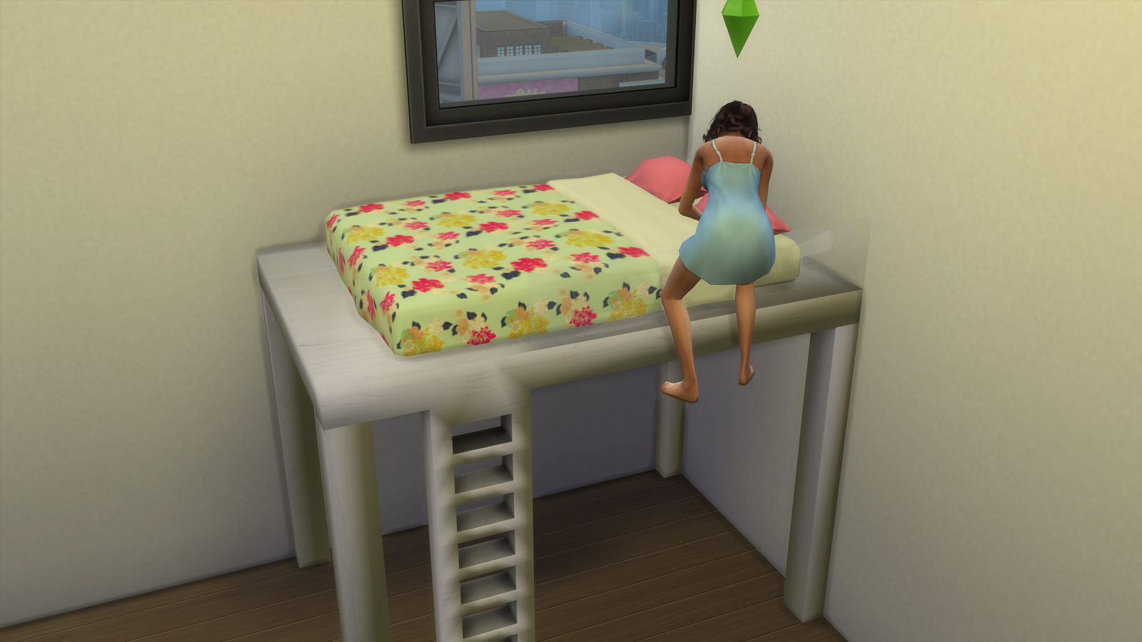 Image of: Sims 4 Bunk Beds Girls