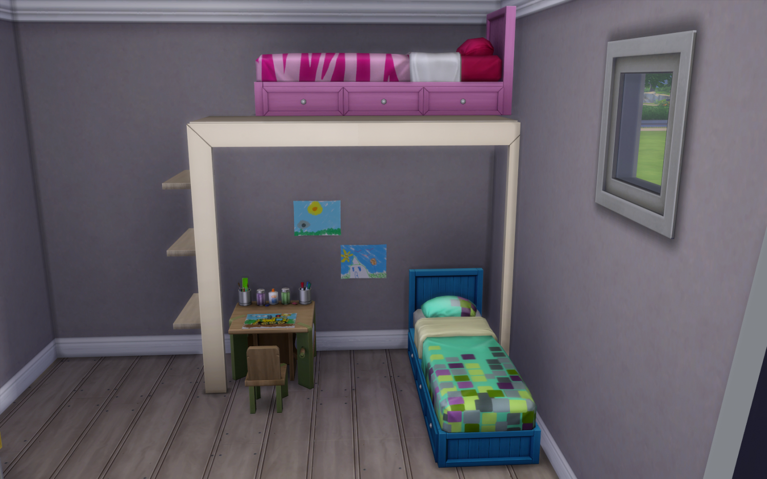 Image of: Sims 4 Bunk Beds Home