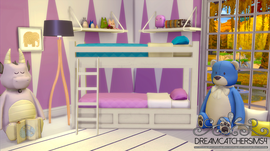 Image of: Sims 4 Bunk Beds Idea