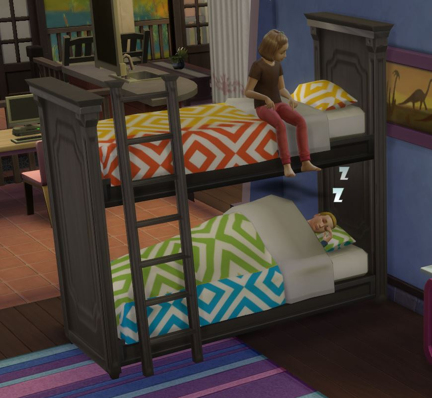 Image of: Sims 4 Bunk Beds Modern