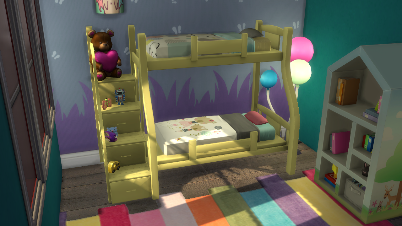 Image of: Sims 4 Bunk Beds Stairs
