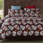 Skull Day of the Dead Bed Set