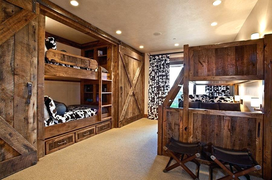 Sliding Barn Doors Rustic Bunk Beds