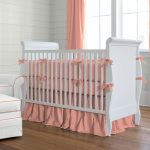 Solid Coral Baby Bedding