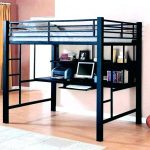 Stylish Queen Bunk Bed with Desk
