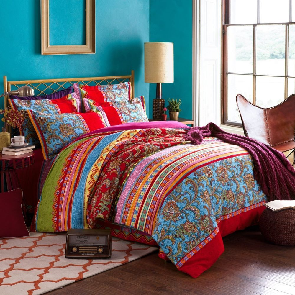Image of: System Bohemian Bedding Sets