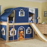 Toddler Bunk Bed with Slide and Stair
