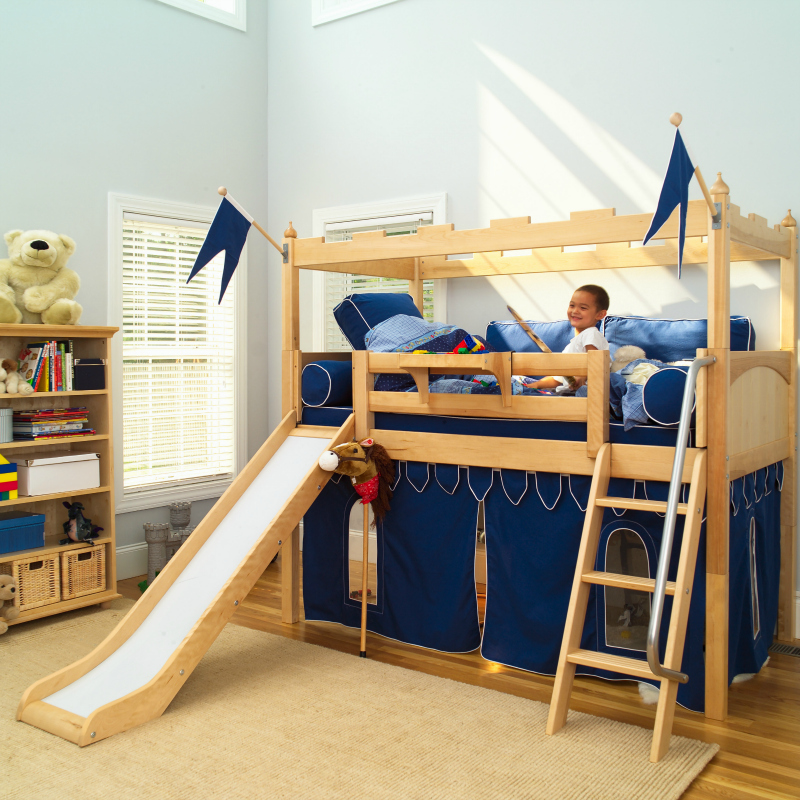 Image of: Toddler Bunk Bed with Slide for Boy