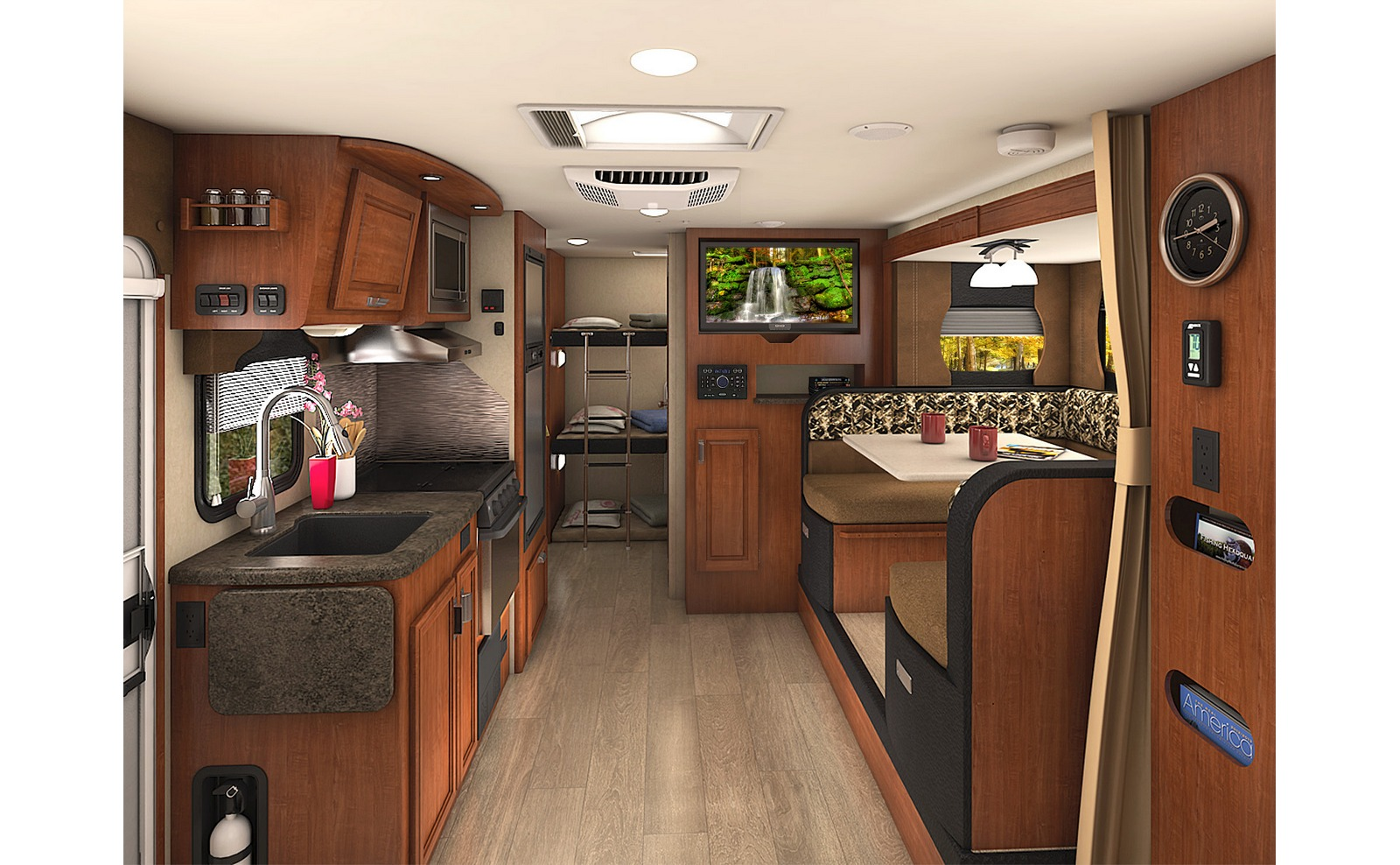 Image of: Travel Trailers with Bunk Beds Idea