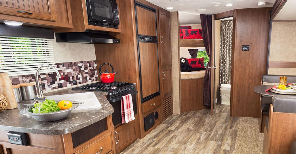 Image of: Travel Trailers with Bunk Beds Kitchen