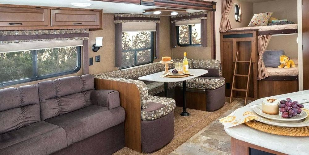 Image of: Travel Trailers with Bunk Beds Sofa