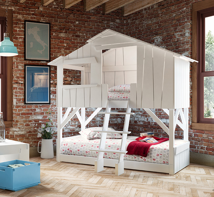 Image of: Treehouse Bunk Bed Color