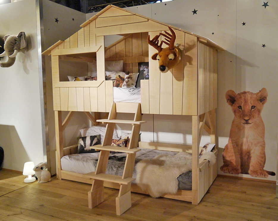 Image of: Treehouse Bunk Bed Design