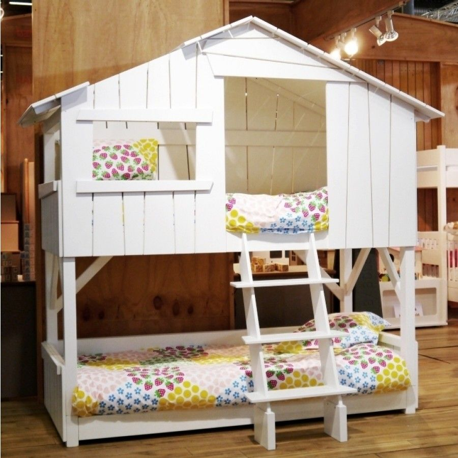 Image of: Treehouse Bunk Bed Ladder